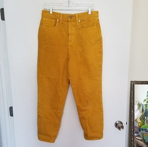 Madewell Yellow Mom Jeans